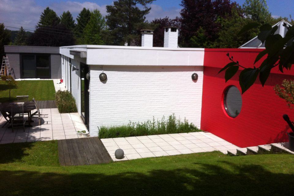 Thierry Tiquet Peinture- peintre en bâtiment-Embourg-Chaudfontaine-Peinture-Peinture façade extérieure